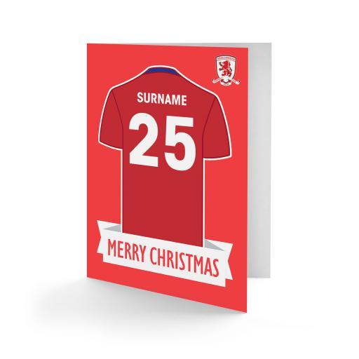 Middlesbrough FC Shirt Christmas Card
