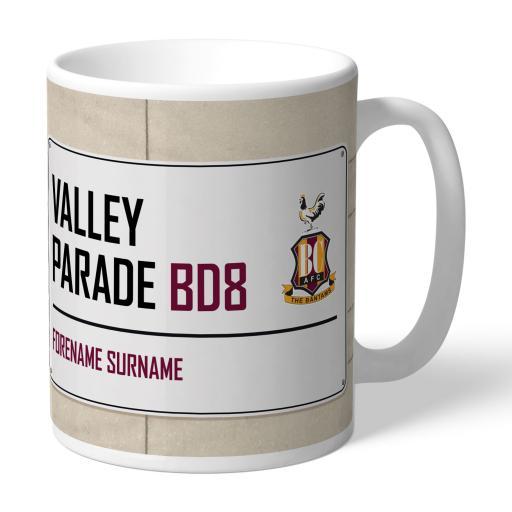 Bradford City AFC Street Sign Mug
