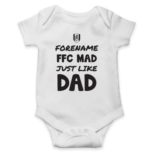 Fulham FC Mad Like Dad Baby Bodysuit