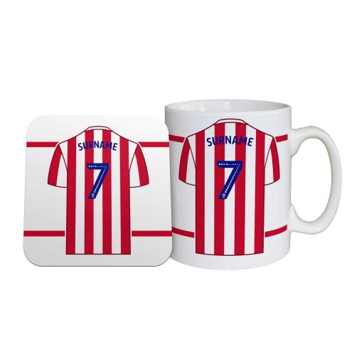 Stoke City FC Shirt Mug & Coaster Set