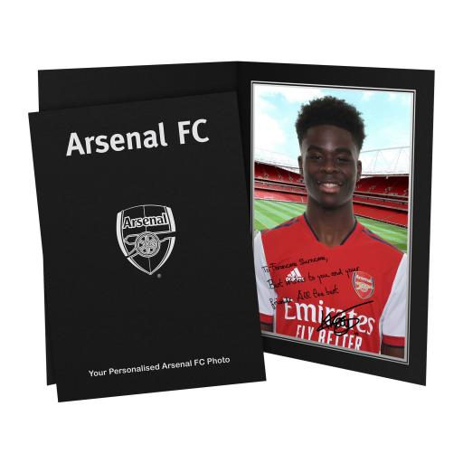 Arsenal FC Saka Autograph Photo Folder