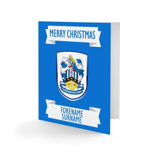 Huddersfield Town Crest Christmas Card