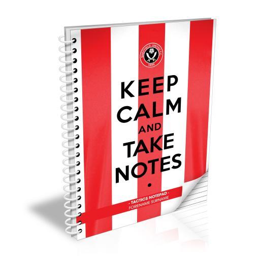 Sheffield United FC Keep Calm Notebook