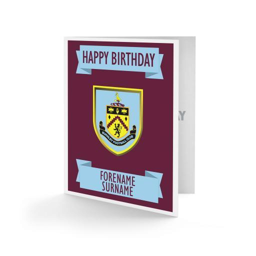 Burnley FC Crest Birthday Card