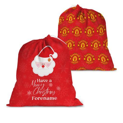 Manchester United FC Merry Christmas Santa Sack