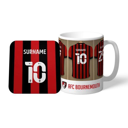 AFC Bournemouth Dressing Room Mug & Coaster Set