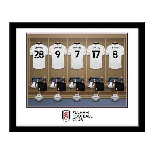 Fulham FC Dressing Room Framed Print