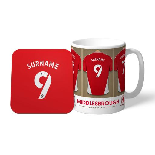 Middlesbrough FC Dressing Room Mug & Coaster Set