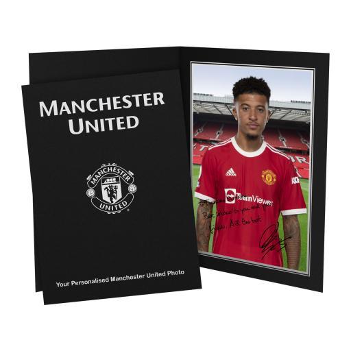Manchester United FC Sancho Autograph Photo Folder