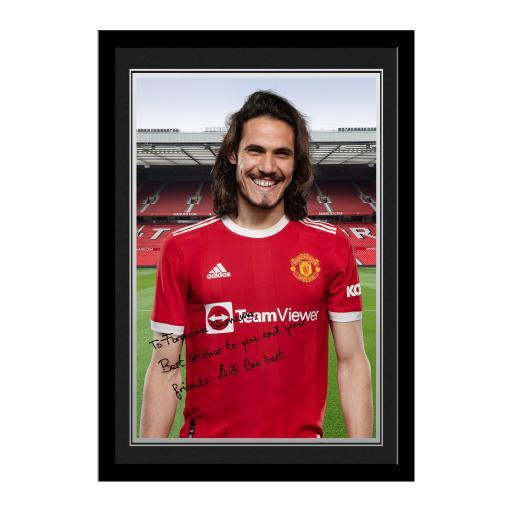 Manchester United FC Cavani Player Photo Framed