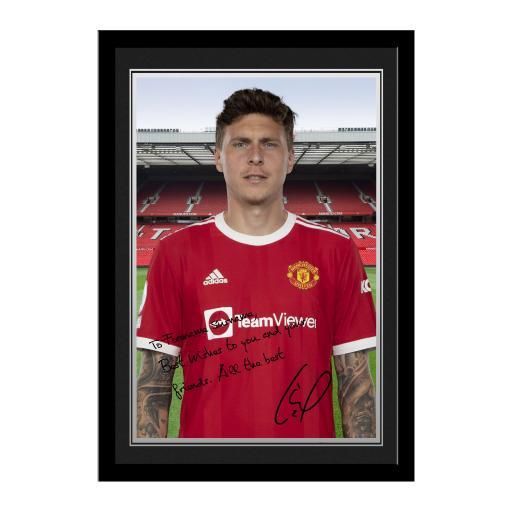 Manchester United FC Lindelof Autograph Photo Framed