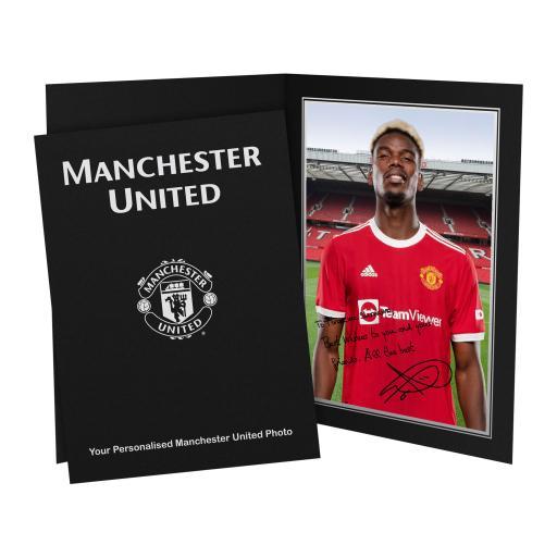 Manchester United FC Pogba Autograph Photo Folder