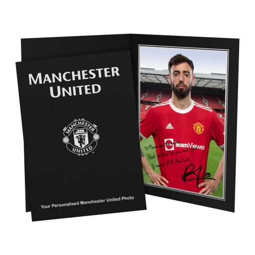 Manchester United FC Fernandes Autograph Photo Folder