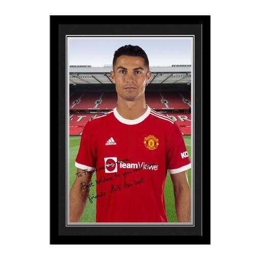 Manchester United FC Ronaldo Player Photo Framed